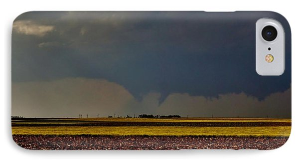 IPhone Case featuring the photograph Tornadoes Across The Fields by Ed Sweeney