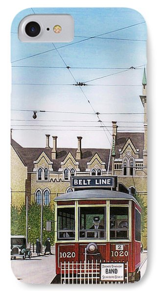 IPhone Case featuring the painting Toronto Belt Line by Kenneth M Kirsch