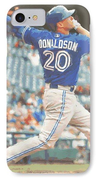 Toronto Blue Jays Josh Donaldson IPhone Case by Joe Hamilton