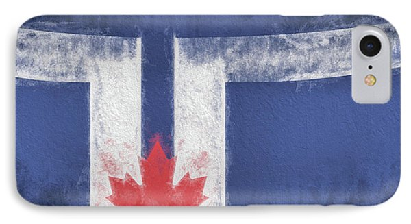 IPhone 7 Case featuring the digital art Toronto Canada City Flag by JC Findley