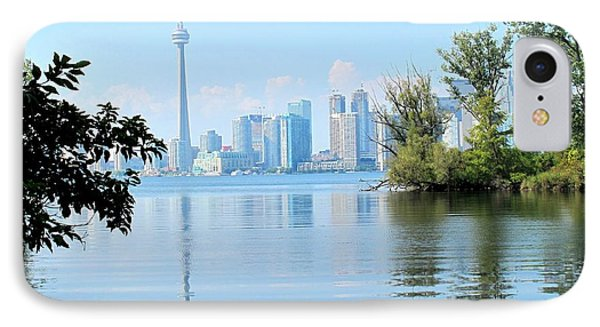 Toronto From The Islands Park IPhone Case by Ian  MacDonald