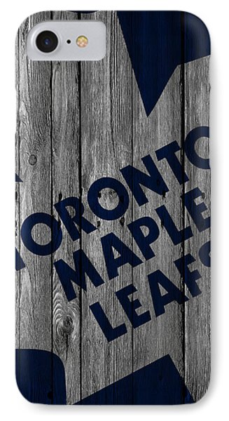 Toronto Maple Leafs Wood Fence IPhone Case by Joe Hamilton