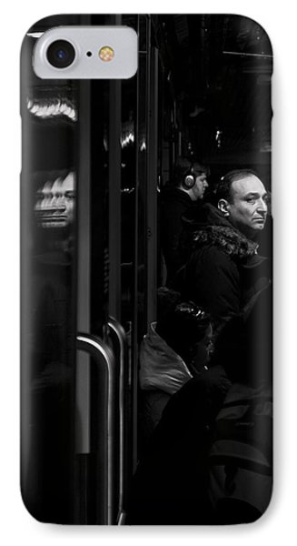 IPhone Case featuring the photograph Toronto Subway Reflection by Brian Carson