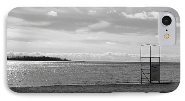 IPhone Case featuring the photograph Toronto Winter Beach by Valentino Visentini