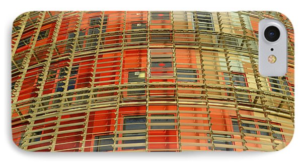 IPhone Case featuring the photograph Torre Agbar Modern Facade by Marek Stepan