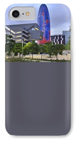 Torre Agbar Barcelona  IPhone Case by Marek Stepan