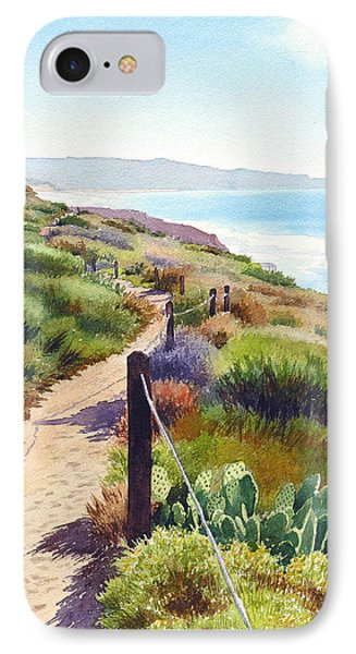Pacific Ocean iPhone 7 Case - Torrey Pines Guy Fleming Trail by Mary Helmreich