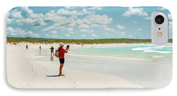 Tortuga Bay Beach At Santa Cruz Island In Galapagos  IPhone Case by Marek Poplawski