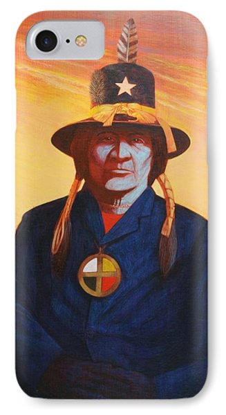 Tosh-a-wah,peneteka Comanche Chief Phone Case by J W Kelly