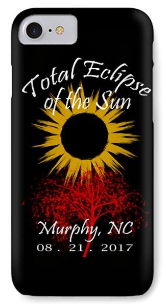 Total Eclipse T-shirt Art Murphy Nc Phone Case by Debra and Dave Vanderlaan
