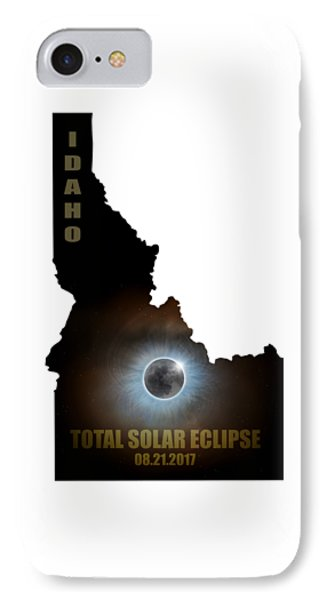 Total Solar Eclipse In Idaho Map Outline Phone Case by David Gn