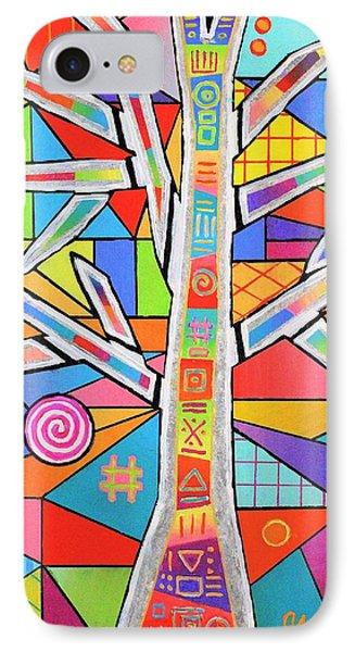 Totem Tree IPhone Case by Jeremy Aiyadurai