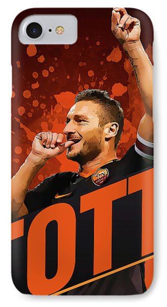Totti IPhone Case by Semih Yurdabak
