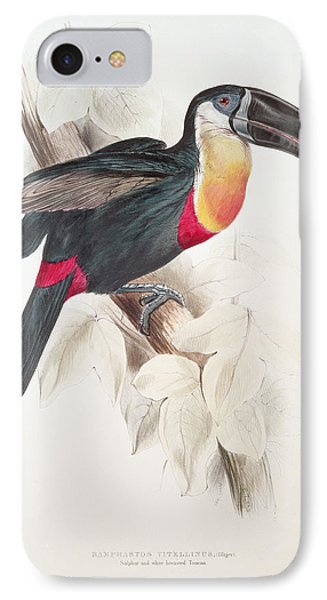 Toucan IPhone Case by Edward Lear