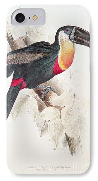 Toucan iPhone 7 Case - Toucan by Edward Lear