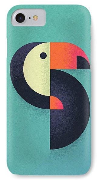 Toucan Geometric Airbrush Effect IPhone 7 Case by Ivan Krpan