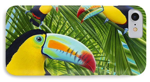 Toucan iPhone 7 Case - Toucan Threesome by Carolyn Steele
