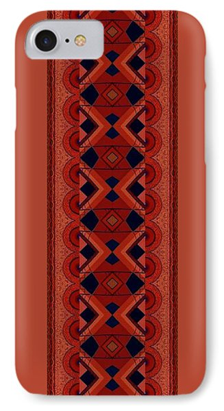 Touch Of Color - Red And Purple Variation IPhone Case