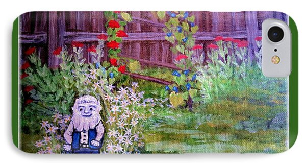 IPhone Case featuring the painting Touched By A Gnome In Grandma's Secret Garden by Kimberlee Baxter