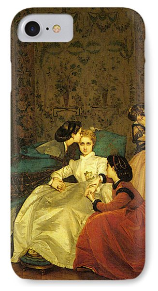 Toulmouche Auguste The Reluctant Bride IPhone Case by Auguste Toulmouche
