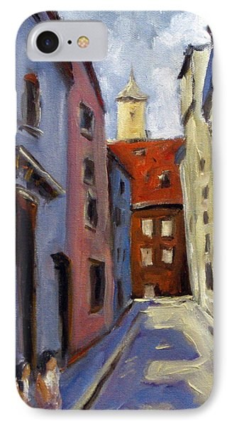 Tour Of The Old Town Phone Case by Richard T Pranke