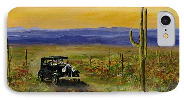 IPhone Case featuring the painting Touring Arizona by Jack Skinner