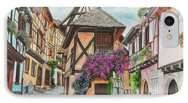 Touring In Eguisheim Phone Case by Charlotte Blanchard