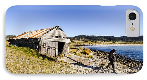 Tourist In East Coast Tasmania IPhone Case by Jorgo Photography - Wall Art Gallery