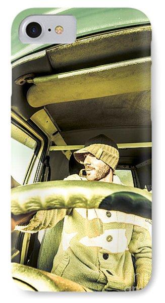 Tourist Sightseeing In Van IPhone Case