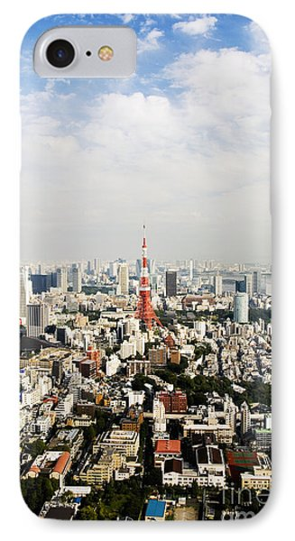Tower And City View Phone Case by Bill Brennan - Printscapes