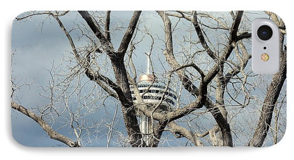 IPhone Case featuring the photograph Tower And Trees by Valentino Visentini