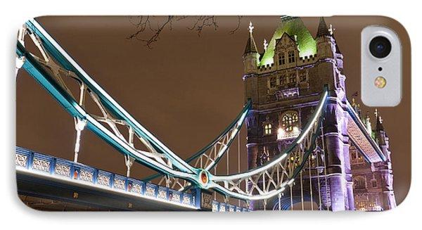 Tower Bridge Lights Phone Case by Rae Tucker