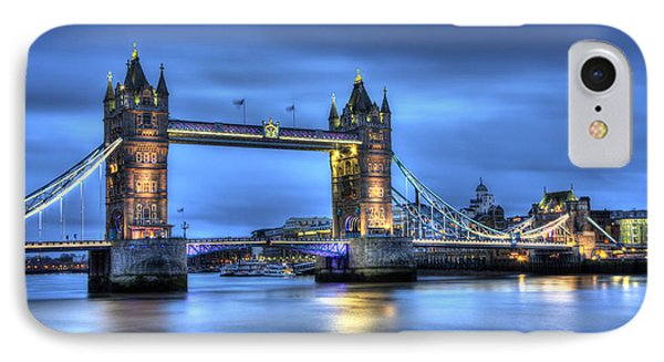 IPhone Case featuring the photograph Tower Bridge London Blue Hour by Shawn Everhart