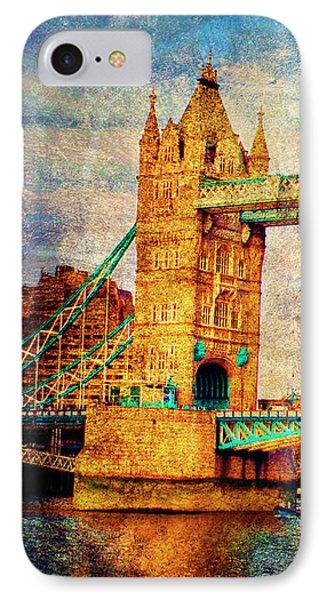 Tower Bridge London IPhone Case by Judi Saunders