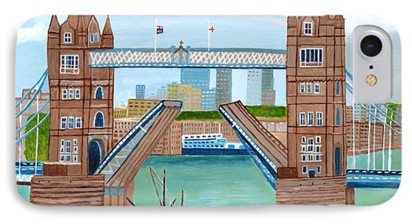 IPhone Case featuring the painting Tower Bridge London by Magdalena Frohnsdorff