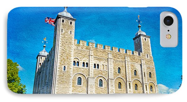 Tower Of London iPhone 7 Case - Tower Of London by Laura D Young