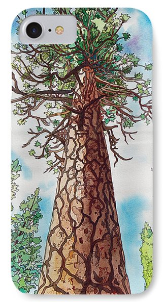 Towering Ponderosa Pine Phone Case by Terry Holliday