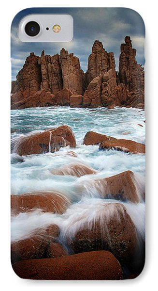 Towers In The Sea IPhone Case by Tim Nichols