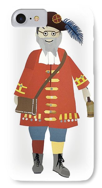 Town Crier IPhone Case by Isoebl Barber