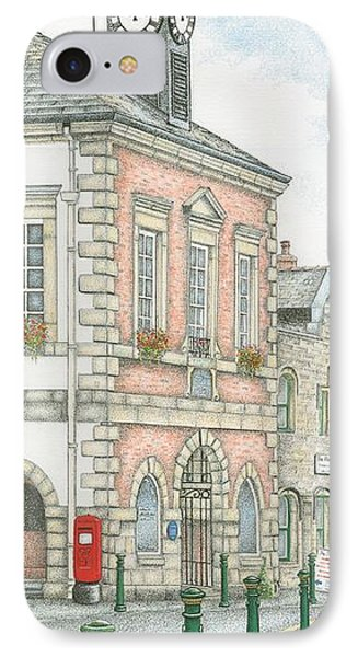 Town Hall Clock Garstang Lancashire IPhone Case by Sandra Moore