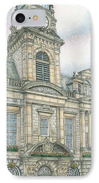 Town Hall Clock Kendal Cumbria IPhone Case by Sandra Moore