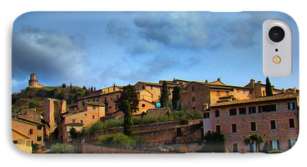 Town Of Assisi, Italy II IPhone Case by Al Bourassa