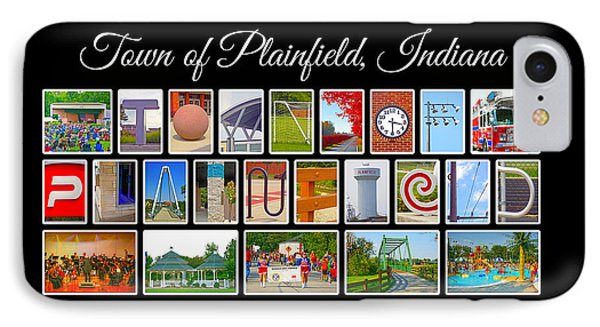 Town Of Plainfield Indiana IPhone Case by Dave Lee
