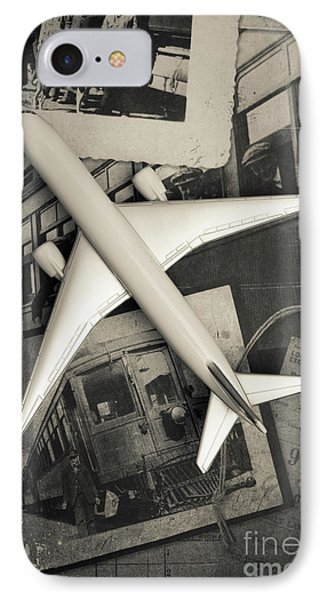 Toy Airplane Vintage Travel Phone Case by Edward Fielding