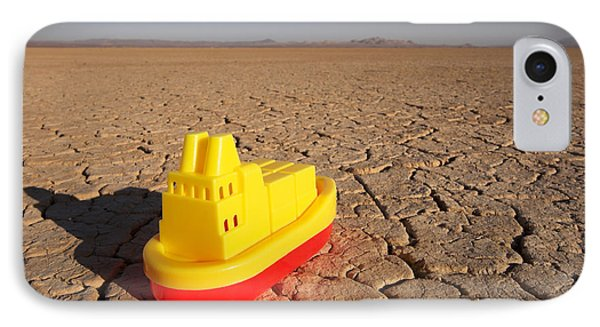 Toy Boat & Dry Lake IPhone Case by GIPhotoStock