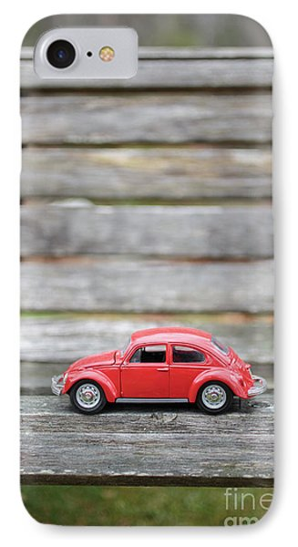 Toy Car On A Bench IPhone Case by Edward Fielding