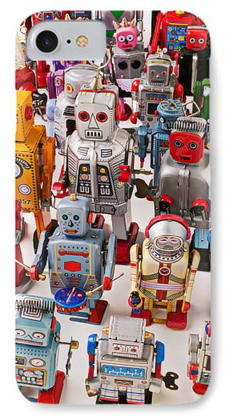 Toy Robots IPhone Case by Garry Gay