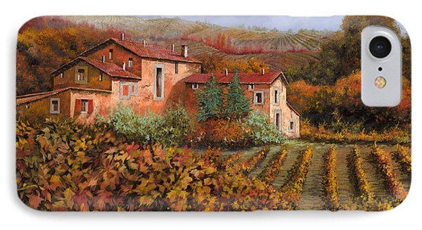tra le vigne a Montalcino IPhone Case by Guido Borelli