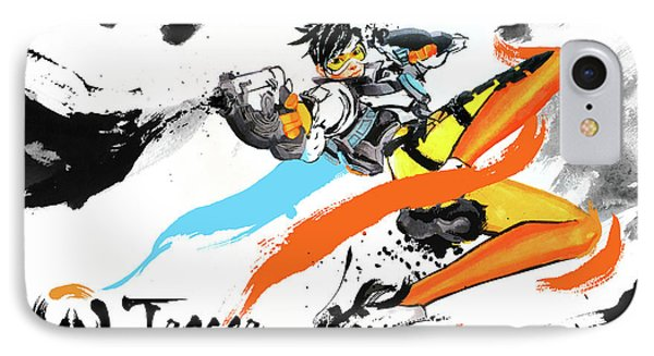 Tracer Overwatch Phone Case by Haze Long