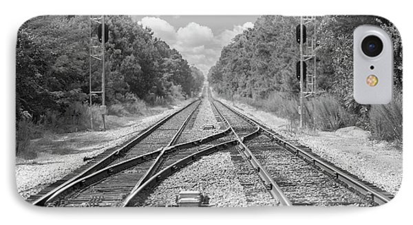 IPhone Case featuring the photograph Tracks 2 by Mike McGlothlen